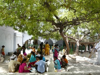 The large dargah complex has many courtyards and open spaces, some crowded and some more leisurely, like this one
