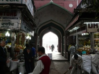 Side entrance to Fatehpuri Masjid