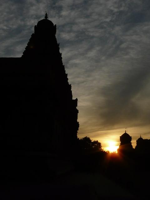 Sunset at Brihadeshwara temple, THanjavur